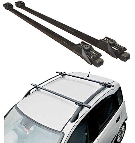 Hardcastle Dachträger fürs Auto - abschließbar als Diebstahlschutz - Schwarz - 120 cm -