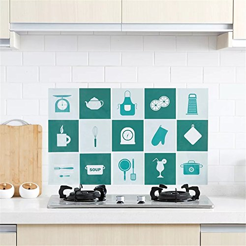 Onsearch Onsearch Kitchen Removable Oil Proof Waterproof Home Stove Ceramic Tile Wall Sticker Cleaning Wall Decals Home Cook Stove Wall Decor