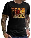Stylotex Herren T-Shirt Basic Fear Los Angeles, Farbe:schwarz;Größe:XL