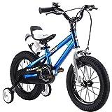 """Y & Y Toy Store ON Line R-45,72 cm (18"""")"""" BMX Freestyle per Bici per Bambini, Colore: Rosso, Verde, Blu e Bianco, Regolabile, con stabilizzatori Rimovibili Senza wate Sport-Bottiglia e Supporto"""