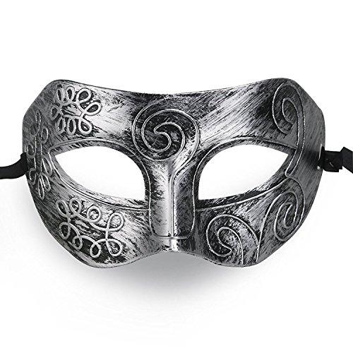 TANKASE Mens Masquerade Maske / Mystery / Griechische römische Krieger Maske / Party Maske / Mardi Gras Maske / Halloween Maske