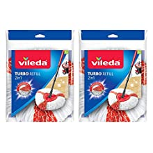 Vileda Turbo 2-In-1 Microfibre Mop Refill Red, Pack of 2