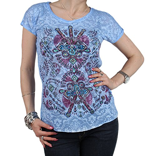 REDBRIDGE by CIPO & BAXX Damen Kurzarm T-Shirt Blau