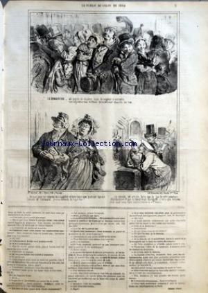 CHARIVARI (LE) du 06/06/1864 - AU SALON DE 1864 - P. VERON - LA SEMAINE DE LA BOURSE