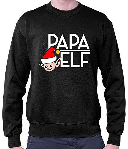 HARIZ Herren Pullover Papa Elf Weihnachten Xmas Schnee -
