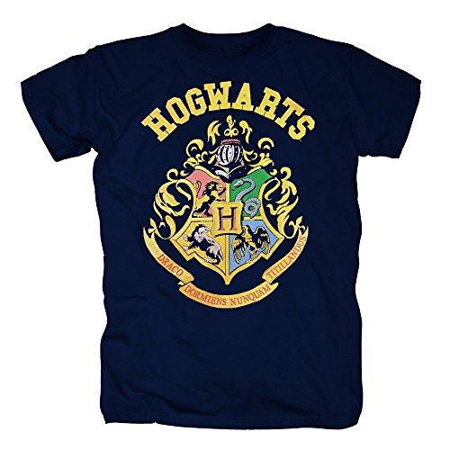 TSP Harry Potter - Crest Hogwarts T-Shirt Herren L (Hermines Katze Kostüm)