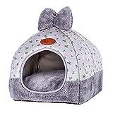 TianBin Fermé Pliable Nid d'animal Automne et Hiver Chaud Chat Maison La Mode Lit de Chien (Gris#1, L)