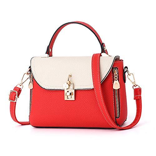LFGCL Taschen womenShoulder Messenger Bag Mädchen Fashion Contrast Small Square Bag, rot