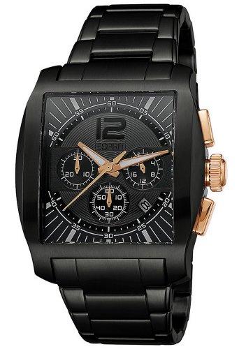 Esprit - ES103641003 - Montre Homme - Quartz Chronographe - Chronomètre/Aiguilles Lumineuses - Bracelet Acier Inoxydable Noir