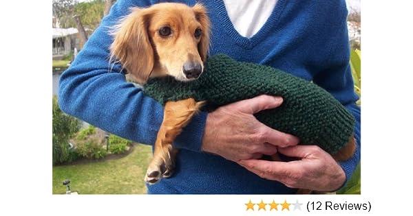Knitting Pattern For Lenas Miniature Dachshund Dog Sweater Ebook