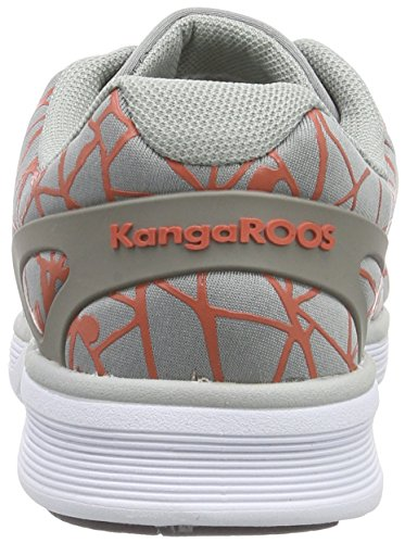 KangaROOS K-light 8012, Baskets Basses mixte adulte Gris - Grau (mid grey/dk peach 273)