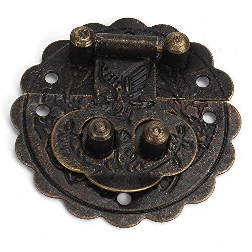 BQLZR Antike Vintage 4x4cm Bronze Box Buckle Dekorative Vorhängeschloss Packung von 4