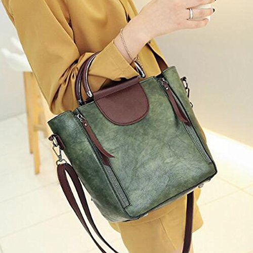 Donne Vintage Crossbody Messenger Borsa Satchel Borsetta Borsetta Cartella Crossbody Green