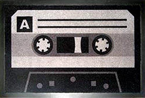 tte/Kassetten Motiv mit rutschfester Gummi-Rückseite (Kassetten-fußmatte)