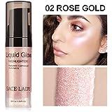 TAOtTAO Fondotinta illuminante liquido, anche per labbra, crema brillante bronzer per contouring, B, 7.9*2.2cm
