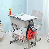 Preisvergleich für Ffion Schreibtische Kinderschreibtisch Stuhl, Schreibtisch Mit Aufhängehaken, Aufbewahrungsregal und Bleistift Nut (Grau)