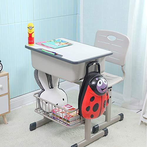 Ffion Schreibtische Kinderschreibtisch Stuhl, Schreibtisch Mit Aufhängehaken, Aufbewahrungsregal Und Bleistift Nut (Grau)