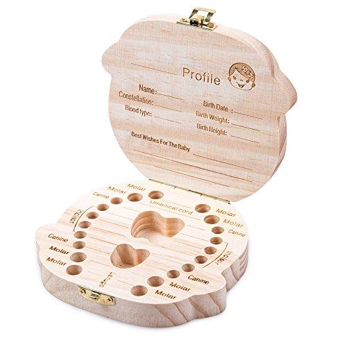 ELENKER Aufbewahrungsbox für Kinder Baby Zähne Milchzähne Box Geschenk für Kinder (Mädchen)