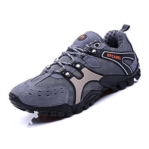 SAGUARO® Hike Trekking Wanderhalbschuhe Outdoor Sport Wander Schuhe Wasserdicht Walking Wanderstiefel Boots für Herren Damen, Grau 39