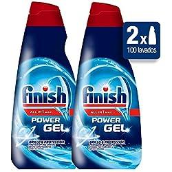 Finish Power Gel Lavavajillas Todo en 1 Max Regular - Pack de 2 x 50 lavados - Total: 100 lavados