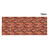 3D Ziegel Tapete Wall Stickers,New PE Foam 3D Wallpaper 4 MM Dicke Wand Dekoration Brick Fototapete Steinoptik 30*30cm Textur Touch Gefühl perfekt (10PCS/SET)