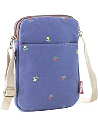 LQZ Canvas Mini Cute Cross-Body Bag Cell Phone Purse Wallet Pouch Shoulder Bag For Women,Lady