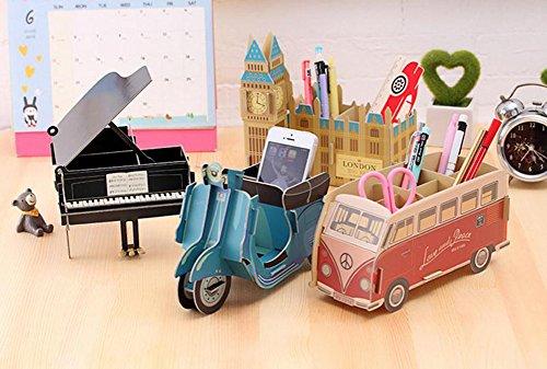 Demarkt Aufbewahrungsbox Organizer Cartoon Papier Schreibtisch Aufbewahrungsbox Schwarzes Klavier für Handy Kugelschreiber DIY - 5