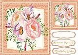 Bonitas rosas ona Script–Esterilla de Ceredwyn Macrae