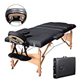 Vesgantti Portable Massage Bed Table - 3-Section Foldable Beauty Couch for Reiki Therapy