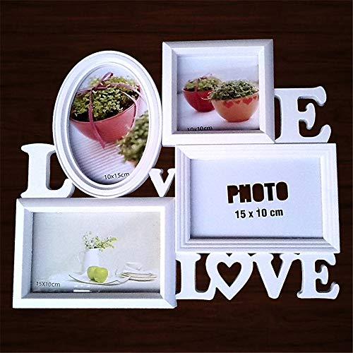 Fotorahmen Collage Weiß Bild Fotorahmen Kombination Wandbehang Anzeigen mehrerer Fotos