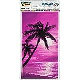 Gráficos y más palmeras y atardecer rosa playa Tropical del océano mag-Neato del automóvil coche lado Locker vinilo imán