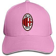 hittings AC Milan I Ross oneri IL Diavolo Devil Snapback Visor Sandwich Gorra, color rosa