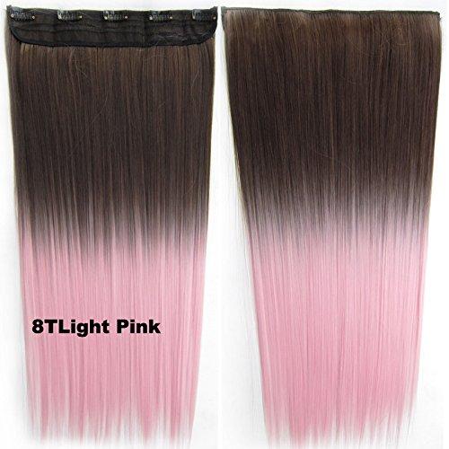 Meiya 1 synthétique Ombre DIP DYE Hippie Clip dans Extension de cheveux droite Clip dans 40 couleurs