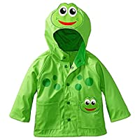 Eastlion Children Cartoon Raincoat Frog Style Windproof And Rainproof Hooded Jacket,Frog,120CM