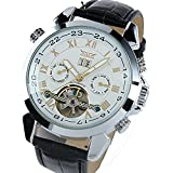 ufengke movimento calendario cinturino da polso meccanico orologio da polso antichi eleganti numeri romani automatico per gli uomini,bianchi