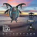OOFAY FQ28 Mini Faltbare Drohne Mit 720 P WIFI Kamera Echtzeitübertragung, Auto One-Touch-Schalter Notlandung Höhe Halten Flugbahn Flug (Schwarz)