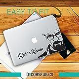 Heisenberg Breaking Bad Walter weiß Aufkleber–Decals für MacBook–Schwarz Vinyl