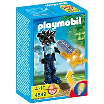 Playmobil - 4849 - Jeu de construction - Gardien du temple avec arme lumineuse orange