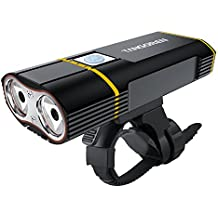 tansoren USB Batería bicicleta luz con 2000lúmenes CREE XM-L2LED lámpara, liberación rápida resistente al agua de bicicleta y libre 18650baterías