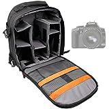 DURAGADGET Sac à dos noir appareil photo numérique compact réflex pour Canon EOS 300D / SX1 / SX10 / SX110 / SX120 / 5D Mark II / PowerShot G10 / EOS 550D