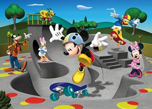 1art1 77947 Micky Maus - Minni Maus, Donald Duck, Pluto Und Freunde, Skateboarden Fototapete Poster-Tapete 160 x 115 cm