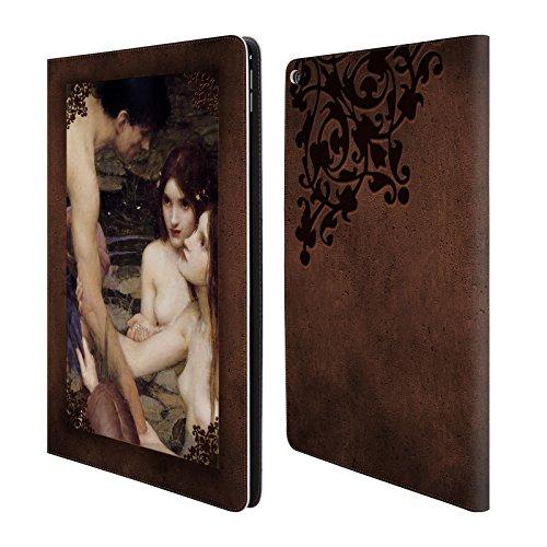 Offizielle Brigid Ashwood Wasserhaus 7 Präraffaeliten 2 Brieftasche Handyhülle aus Leder für Apple iPad Pro 12.9