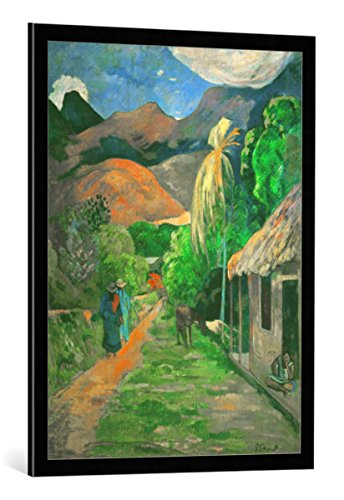 framed-art-print-paul-gauguin-road-into-the-mountains-decorative-fine-art-poster-picture-with-high-q