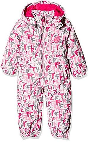Kanz Mädchen Sportswear-Set Schneeanzug m. abnehmbarer Kapuze 1, Gr. 92, Weiß (snow white 1050)