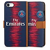 DeinDesign Apple iPhone 8 Étui Étui Folio Étui magnétique Paris Saint Germain Produit sous Licence Officielle Maillot PSG