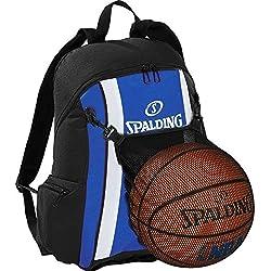 Spalding–Mochila de baloncesto Royal Azul/Negro incl. Pelota Red + Gratis Botella