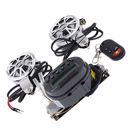 Almencla wasserdichte ATV Audio Radio Sound System Stereo Lautsprecher MP3 (schwarz Marine-stereo-gehäuse
