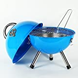 Blau TISCHGRILL Kugelgrill GRILL Camping BBQ Barbecue GRILL Garten Terrasse Ø 36 cm Holzkohlegrill