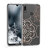 kwmobile Huawei Y6 (2019) Hülle - Handyhülle für Huawei Y6 (2019) - Handy Case in Rosegold Transparent