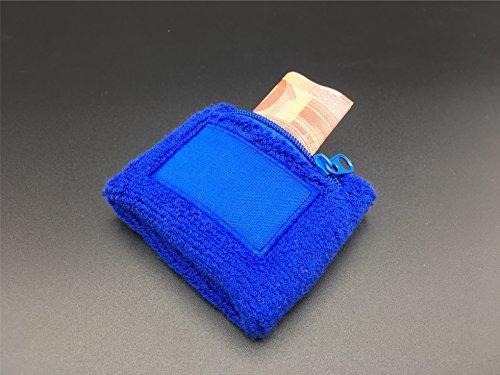 �armband für Herren und Damen für Sport wie Joggen, Laufen, Tennis schwarz von TK Gruppe® (blau mit Tasche) (Hummel Stirnband)